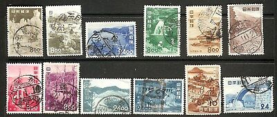 J015 Japan 1950/1953 Scenic Places Partial Set w/SON/center cancels