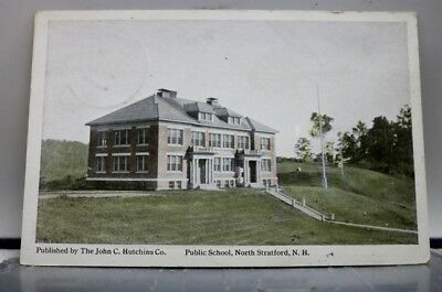 New Hampshire NH Public School North Stratford Postcard Old Vintage Card View PC