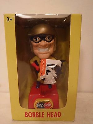 Popsicle Bobble Head Caped Super Hero 2006 Unilever Speaks Toy NIB Free Shipping