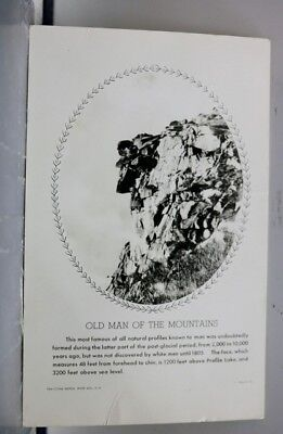 New Hampshire NH Old Man of the Mountains Franconia Notch Postcard Old Vintage