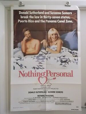 NOTHING PERSONAL one 1 sheet movie poster SUSANNE SUMERS DONALD SUTHERLAND origi