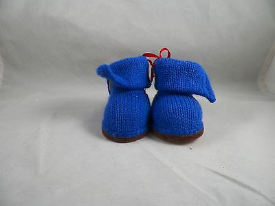 Blue Boots with Button Christmas Tree Ornament new holiday