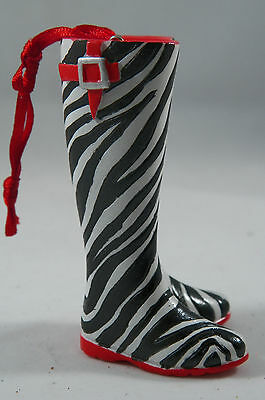 Zebra Striped Jungle Print Pair of Boots Christmas Tree Ornament new holiday