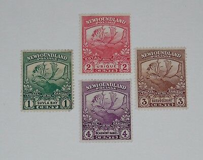 Stamp Pickers Newfoundland 1919 Caribou Mint Lot Scott #115-118 MH OG $24