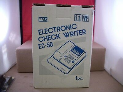 New Old Stock Max EC-50 Electronic Check Writer Protection