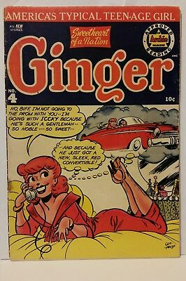 Ginger #4 (1952 Archie). Beautiful George Frese GGA cover. Classic good girl art