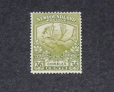 Stamp Pickers Newfoundland 1919 Caribou 36 Cents Scott #126 MH OG $60
