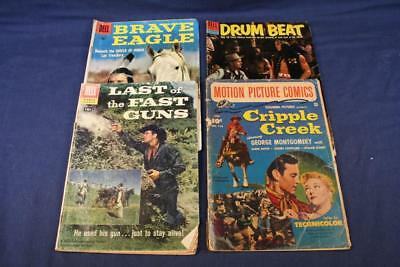 LOT of Western Movie Comic Books DELL Brave Eagle Drum Beat