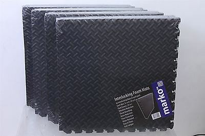 BNIB 18 X MARKO Interlocking EVA Rubber Exercise Yoga Gym Floor Play Area Mats