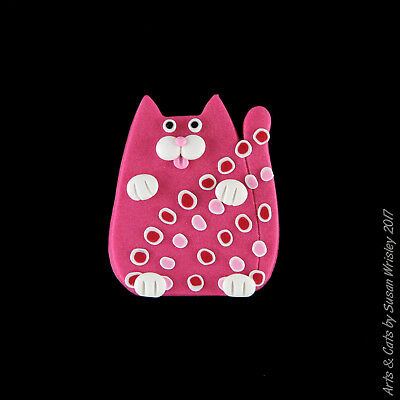 Small Rose Pink Spotted Kitty Cat - SWris
