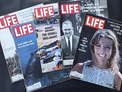 Lot Of 5 Vintage Life Magazines From June - July 1967 Ma Sitson Chinese Violinst