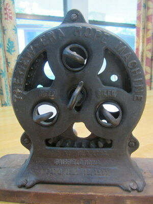 Antique Industiral Tool The New-Era Rope Machine A.d. Long Fairfield, Iowa 1911