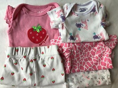 Preemie 5 Piece Lot Baby Girl Clothes