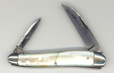 Antique Waterville Mother Of Pearl Wharncliffe Pocket Knife Pen Knife