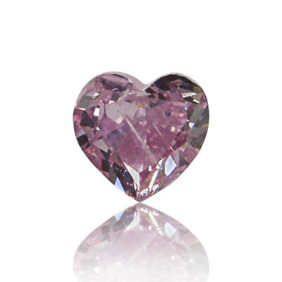 Natural Pink Diamond 0 .08 Ct Fancy Intense GIA Certified Real Heart Cut