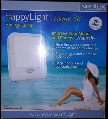 Verilux Happy Light Liberty 5K VT10 Natural Spectrum Energy Lamp Therapy NEW