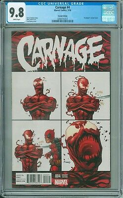Carnage #4 CGC 9.8 Deadpool meme variant Tom Raney cover Marvel