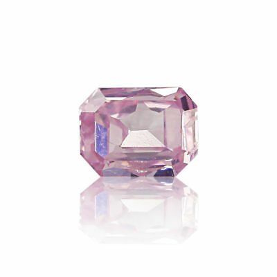 Pink Natural Diamond 0.10 Ct Fancy Intense Real Radiant Cut GIA Certified