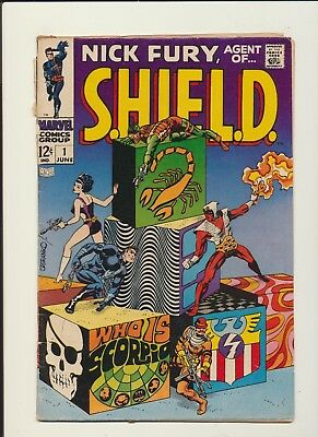 Nick Fury Agent Of Shield #1! Marvel Comics 1968! See Pics And Scans! Wow!
