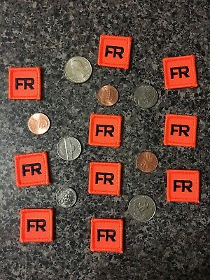 10 Iron On FR Patches Replacement Tags 1 Inch FRC For Shirt Suit Jacket Pant