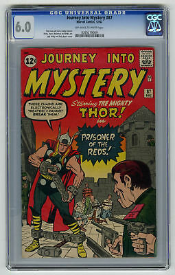 Journey into Mystery #87 CGC 6.0 ORIGINAL OWNER Marvel Comic Lee Kirby VINTAGE