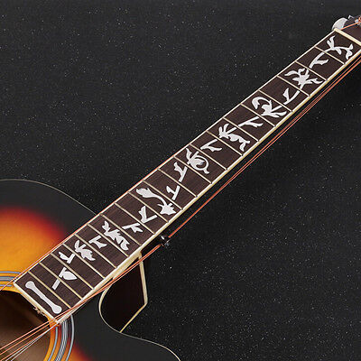 Acoustic Electric Guitar Inlay Sticker Fretboard Marker Fret Decal Decorate SEAU