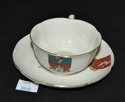 ThriftCHI ~ Ceramic Cup & Saucer - W.H. Goss Windsor Shield Dyson & Sons