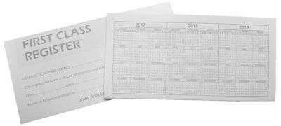 Checkbook Register - 48 pages with 746 lines - 17/18/19 Calendars