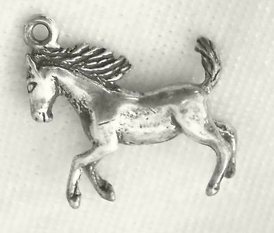"Solid Sterling Silver 1"" Horse Pendant / Charm"