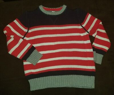 boys old navy sweater size xs 5 red white blue striped vguc