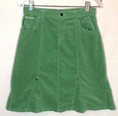 NWT Childrens Place Girls Skirt Size 14 Green Corduroy Stretch Adjustable G3