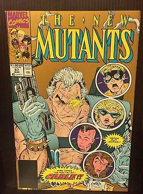 New Mutants #87 - 2nd PRINTING- 1st app Cable - FREE SHIPPING vg+