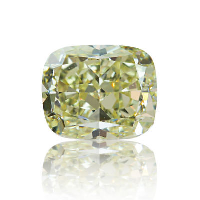Yellow Natural Diamond 0 .72 Ct Fancy Light Color Cushion Cut VS1 Real