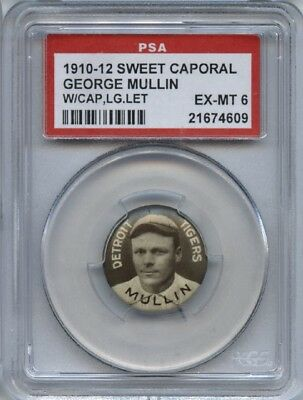 George Mullin 1910-12 Sweet Caporal Pins P2 - With Cap, Large Letters - PSA 6