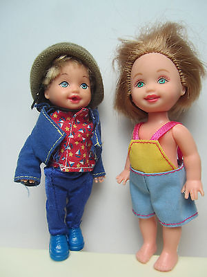 2 Tommy Dolls - one has Sailboat Shirt - Mattel Barbie Kelly Family Dolls