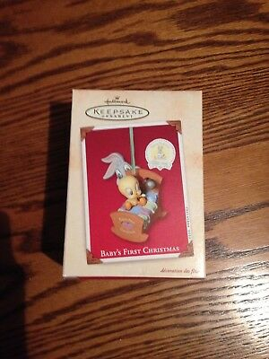 Baby's First Christmas Looney Tunes Hallmark Porcelain Ornament NIB