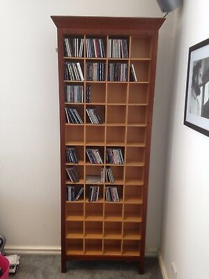 Wilkins and Kent Timber CD DVD Cabinet.Hold 616 CD's. Pick Up Beaumaris Vic
