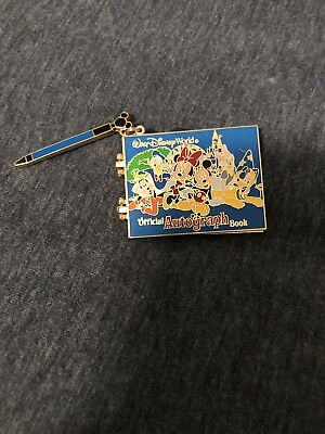 Pre-owned Walt Disney World Official Autograph Book Pin