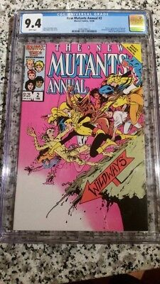 The New Mutants Annual #2 (Jan 1986, Marvel) Psylocke CGC 9.4 White Pages NM