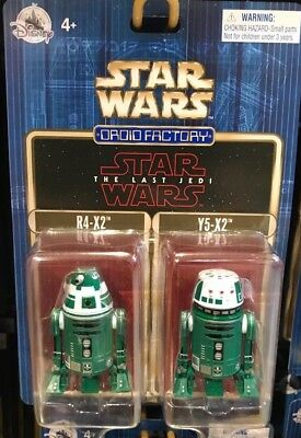 Disney Parks Star Wars 2017 The Last Jedi 2-pack R4-X2 & Y5-X2 Droid Factory New
