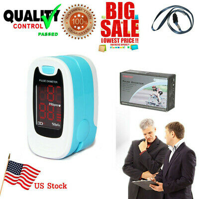 Fingertip Finger Pulse Oximeter SpO2 PR Blood Oxygen Meter Heart Rate Monitor US