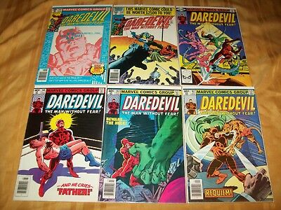 Daredevil # 162 - 167 Comics Complete NM Run Hi Grade Lot 163 164 165 166 Miller