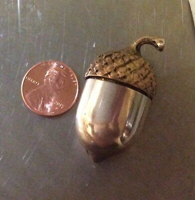 Vintage Tiffany & Co. Gilded Sterling Silver Acorn Thimble Holder EC NR