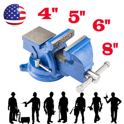 "4"" 5"" 6"" 8"" Mechanic Bench Vise Table Top Clamp Press Locking Swivel Base New"