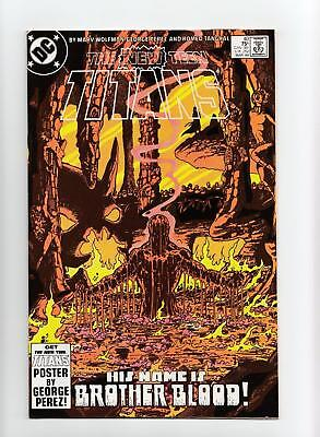 New Teen Titans #40 Brother Blood;  Last Issue (DC 1984) NEAR MINT