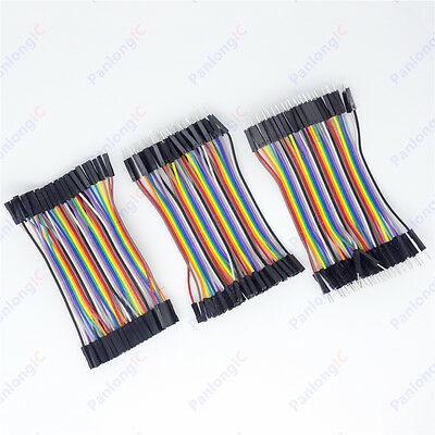 120Pcs 10cm Good Male to Female Dupont Wire Jumper Cable for Arduino Breadboard