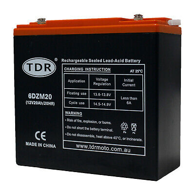 New 12V 20AH AGM SLA Deep Cycle Battery for Golf Cart Buggy Wheel Chair Scooter