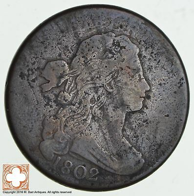 1802 Draped Bust Large Cent *1823