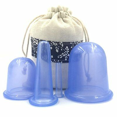 4Pcs Anti Cellulite Vacuum Silicone Therapy Anti-aging Facial Body Massage Cups