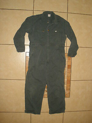 Vintage 60s 70s LEE UNION-ALLS Canvas Unlined Coveralls UNION MADE USA 42 Short